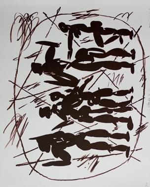 Kunstenaar:  Alphons Freijmuth  Titel:      Amanda's  Jaar:      2000  Techniek:    Litho  Oplage:     50  Formaat:     60x50 liggend  Prijs:      €395,-  zonder lijst
