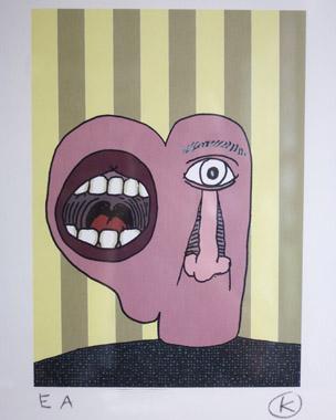 Kunstenaar:  KAMAGURKA  Titel:mond  Jaar: 2008  Techniek: Litho  Oplage: EA  Formaat: 50x65  Prijs: €375 zonder lijst